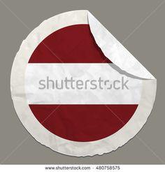 Latvia flag symbol on a paper label