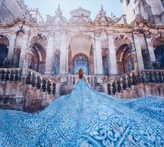 Russian photographer captures stunning dresses against beautiful backdrops Fantasy Photography, Creative Photography, Girl Photography, Fashion Photography, Stunning Dresses, Nice Dresses, Beautiful Places, Most Beautiful, Winter Scenery