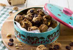 אנחנו באמת מתכוונים לזה: עוגיות שיבולת שועל שאין בהן סוכר או ממתיקים מלאכותיים, ויש בהן רק דברים טובים: אגוזים ופירות אמיתיים