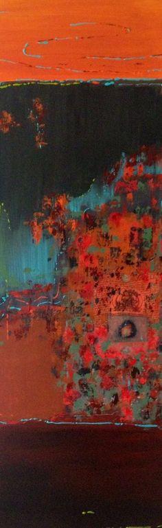 Blue spirit, schilderij van Atelier Landfort, Sabrine Swanenberg-van Gelder | Abstract | Modern | Kunst