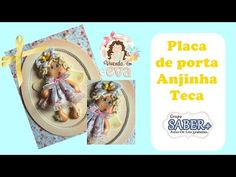 PLACA DE PORTA Anjinha teca - YouTube