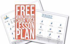 Free Downloadable Chair Yoga Lesson Plan (PDF)