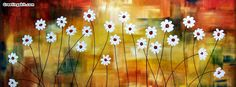 Cheap landscape painting, Buy Quality artwork painting directly from China white flower painting Suppliers: Handpainted abstract white flower landscape painting unFramed Artwork for modern Decortive wholesale and dropship is welcomed Modern Artwork, Contemporary Paintings, Twitter Cover Photo, Daisy Painting, Flower Landscape, Facebook Timeline Covers, Timeline Photos, Abstract Flowers, Simple Art