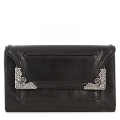 McQ by Alexander McQueen Nappa Leather Clutch Clutch Purse, Purse Wallet, My Style Bags, Workout Accessories, Hobo Handbags, World Of Fashion, Women's Fashion, Leather Clutch, Purses And Bags