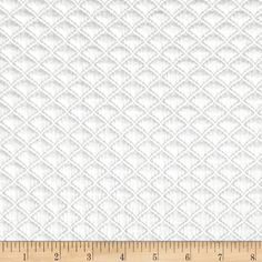 Telio Double Knit Quilt Patch Ivory from @fabricdotcom  This soft yet stable double knit fabric features a dimensional quilted face and of smooth back. This fabric features a soft hand and has a 20% stretch across the grain and 5% vertical stretch. Use this fabric to create unique structured knit tops, jackets, dresses or skirts with this quilted knit fabric.