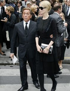 16d4e392749f Valentino and Claudia Schiffer - at the funeral of fashion designer Yves  Saint Laurent in Paris