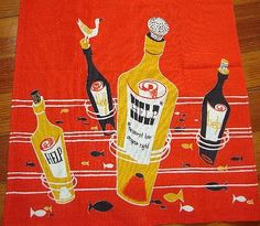vintage tea towel from The Girl Can't Help It