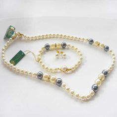 Iris Faux Pearl Vintage Wedding Jewellery Set