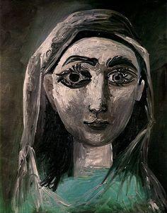 Pablo Picasso. Portrait de Jacqueline. 1961