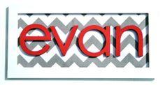 Framed Name, Chevron Stripes
