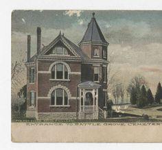 """""""Entrance to Battle Grove Cemetery, Cynthiana, Ky."""" :: Ronald Morgan Postcard Collection"""