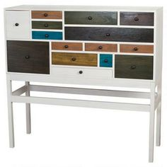 Candi 16 Drawer Cabinet Urban Barn - really like all the colors!