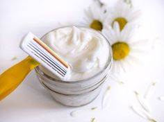 Learn how to make this DIY Shaving Cream - only a few ingredients.