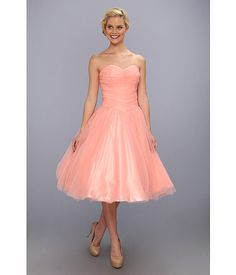 Unique Vintage Sweet As Pie Chiffon Dress Peach - Zappos.com Free Shipping BOTH Ways