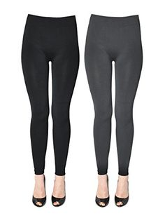 K. Bell Women's 2 Pack Soft and Warm Fleece Lined Leggings, Black/Charcoal, Small/Medium >>> Find out more about the great product at the image link. We are a participant in the Amazon Services LLC Associates Program, an affiliate advertising program designed to provide a means for us to earn fees by linking to Amazon.com and affiliated sites.