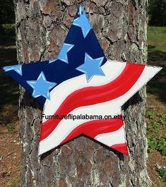 4th of july door hanger,Star door hanger,Flag door hanger,patriotic door hanger, flag door decor,Memorial Day decor