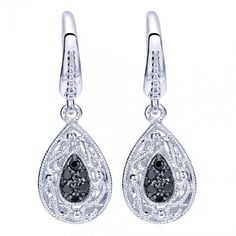 Sterling Silver Black Spinel Earrings - Boutique Silver Collection EG11616SVJBS