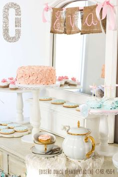 Gorgeous Tea Party Ideas!  See more party planning ideas at CatchMyParty.com!