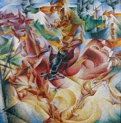 Коловращение судьбы 1912 Боччони Пинакотека Брера, Милан  От фовизма он заимствует цветовые находки, от кубизма художественные формы, но стремился к эмоциональному выражению динамики современного мира