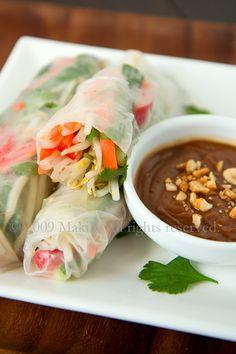 In My Element - edmonton photo & food blog: vegetarian salad rolls