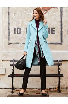 Add a touch of luxe to your look in our favorite Luxe Brushed Coat.