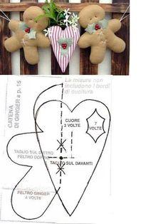 Gingerbread men & heart garland