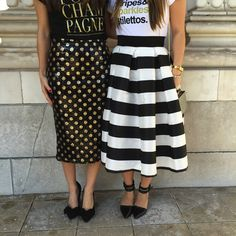 Sequin dots and Stripes!  Perfect skirts!