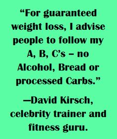 ABCs of weight loss..... + exercise