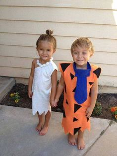 Fred & Wilma Costumes....these are the BEST Homemade Halloween Costume Ideas…