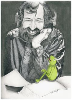 Jim and Kermit,neat pic