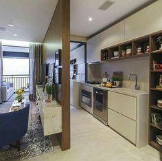 Inspiração ♡ #interiores #design #interiordesign #decor #decoração #decorlovers #archilovers #inspiration #ideias #integrado #sala #livingroom #cozinha #kitchen