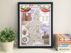 Lambeth Borough illustrated map giclee print by thisismikehall