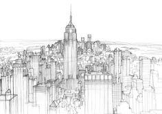 Skyline sketched