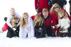 La Familia Real de Holanda vuelve a esquiar en Lech dos años después del fatal accidente de esquí del príncipe Friso