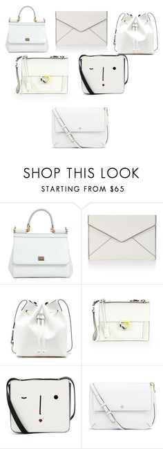 """""""white bags"""" by selena12123 ❤ liked on Polyvore featuring Dolce&Gabbana, Rebecca Minkoff, Sole Society, Salvatore Ferragamo, Lulu Guinness and Tory Burch"""