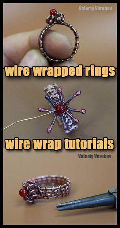 How to Make Wire Wrapped Ring. Wire Wrapped Rings are always popular and fun to make. In this tutorial I'm going to show you how to make a Wire Jewelry Rings, Handmade Wire Jewelry, Wire Jewelry Making, Jewelry Making Tutorials, Beaded Rings, Handmade Crafts, Handmade Jewelry Tutorials, Wire Tutorials, Wire Bracelets
