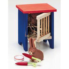 Králikáreň v domčeku pre bábiky