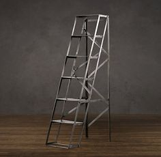 mid-century shop ladder shelving | Restoration Hardware