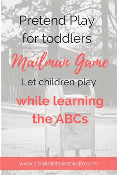 Playing this Mailman game allows the child to work on their ABCs through pretend play!
