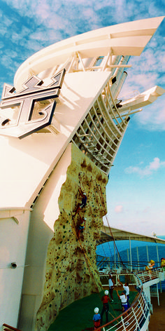 Navigator of the Seas | The thrill of climbing 200 ft above sea level and the views of the Carribean once you reach the top, make the rock wall a true onboard adventure.