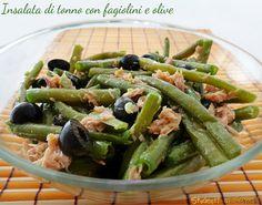 Insalata di tonno con fagiolini e olive nere ricetta con fagiolini