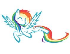 My favorite My Little Pony!!! RAINBOW DASH!!!