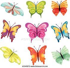 Clipart - papillon, ensemble k5549872 - Recherchez des Clip Arts, des Illustrations, des Dessins et des Images Vectorisées au Format EPS - k5549872.eps