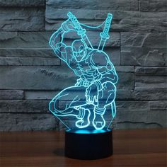 Deadpool shape 3D LED Lamp – GoAmiroo Store