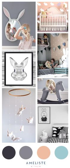 Kids Room Decoration // A perfet idea for a baby girl // Bunny theme decoration // Nursery decoration #baby #kids #homedecor