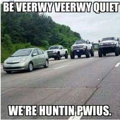 Prius hunt! #Silverado #ChevyTrucks #carhumor