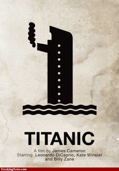 Titanic Pictogram Movie Poster Pictures - Strange Titanic ...