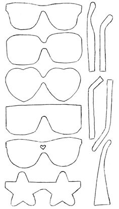 cute sunglass cut outs.