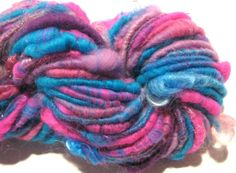 handspun sparkly corespun art yarn Teeny by SpinningWheelStudio, $25.00