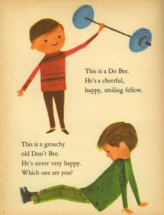 """who knew that this is what that """"doobee"""" song was referencing? Art Seiden illustrations from """"The Romper Room Do Bee Book of Manners"""", 1960"""